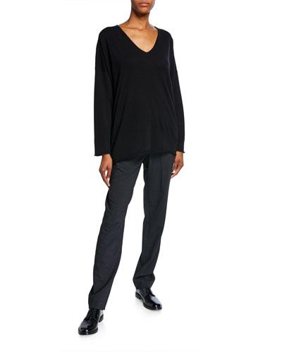 Stretch Narrow-Leg Trousers