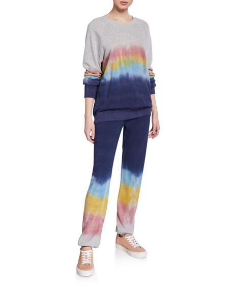 Ombre French-Terry Drawstring Sweatpants