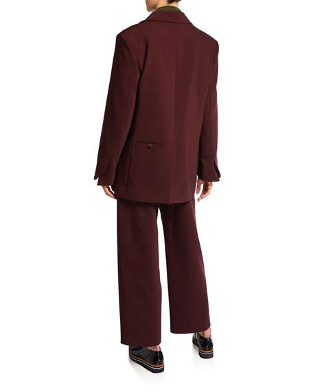 Pleated Bonded Wool Pants
