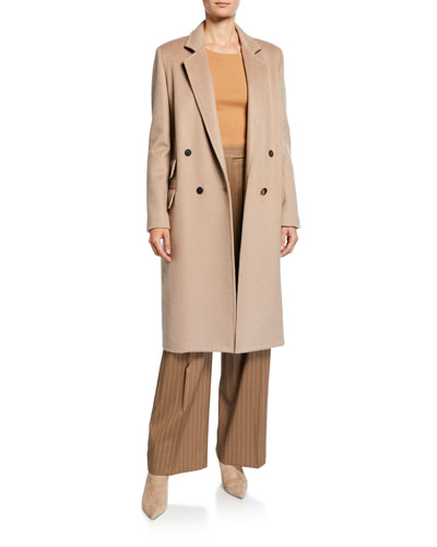 Andrea Cashmere Double-Breasted Coat and Matching Items