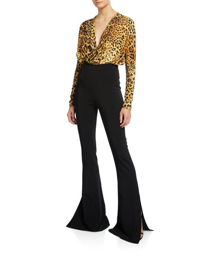 Leopard Print Blouson-Style Bodice and Matching Items