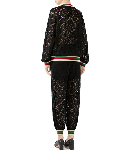 43b77e958 Gucci Flower Lace Bomber Jacket and Matching Items