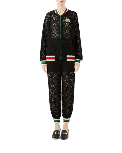 Flower Lace Bomber Jacket and Matching Items