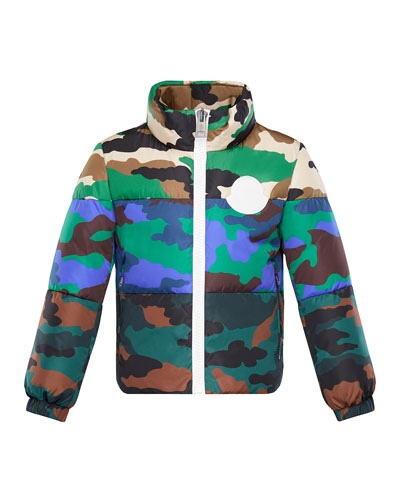 Mixed Camo-Print Puffer Jacket  Size 8-14 and Matching Items