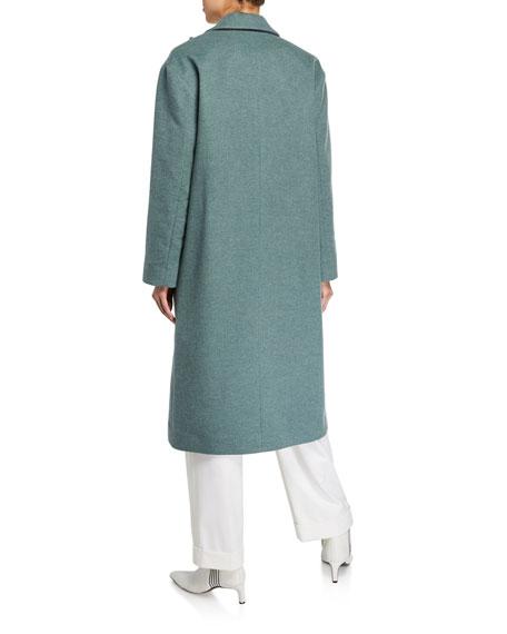 Melton Wrap Coat