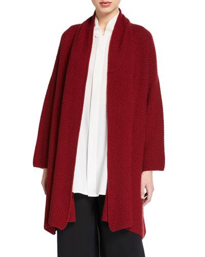 a-line scrunch shawl collar