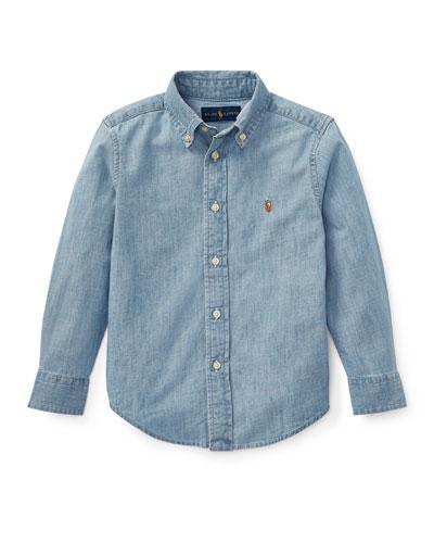 Woven Chambray Shirt  Size 4-7  and Matching Items