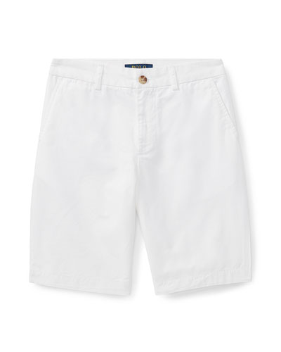 Flat Front Chino Shorts  Size 8-14  and Matching Items