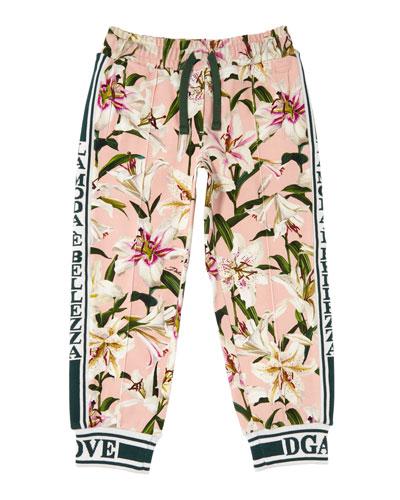 Lilly of the Valley Print Joggers  Size 4-6  and Matching Items