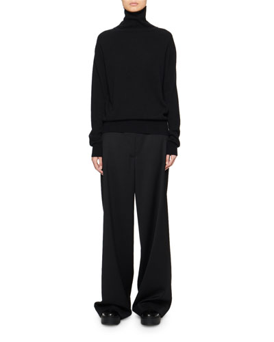 Seiler Wool-Cashmere Turtleneck Sweater  Black and Matching Items