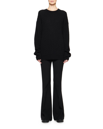 Minorj Cashmere-Silk Cable Knit Sweater and Matching Items