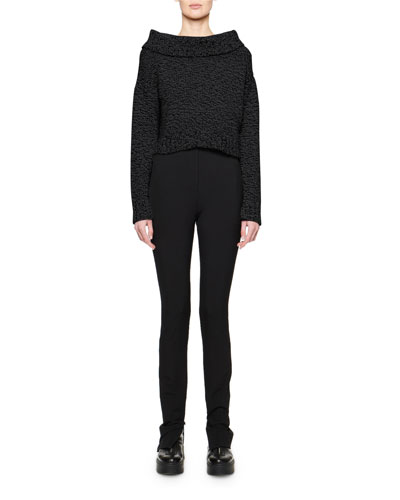 Luand Cashmere-Wool Foldover-Neck Sweater and Matching Items