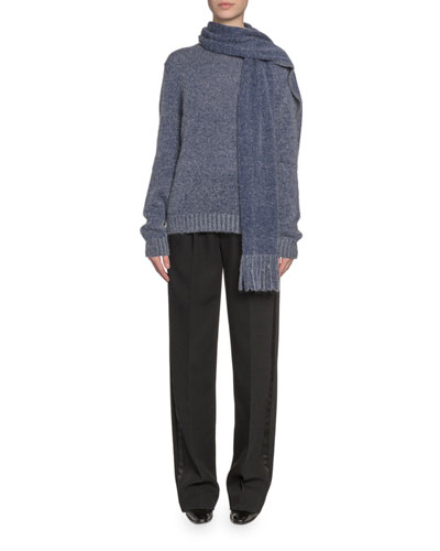 Pleated-Front Wool Straight-Leg Pants  and Matching Items