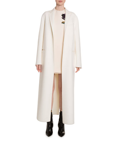 Wool-Cashmere Floor Length Coat and Matching Items