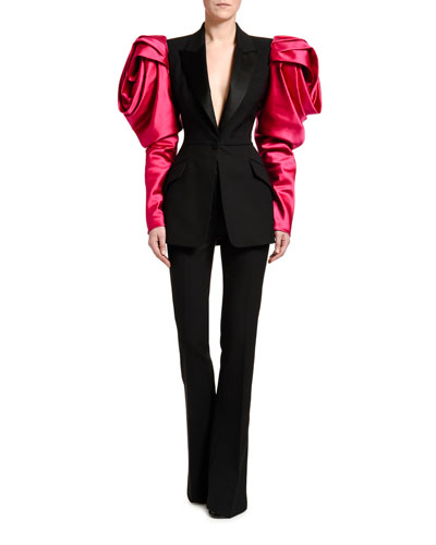 Rose-Sleeve Lightweight Wool Jacket and Matching Items