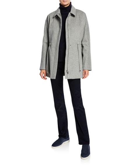 Cashmere Storm Cinched-Waist Jacket