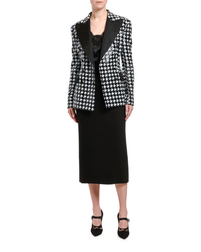 6579b2f80190e9 Houndstooth Sequined Double-Breasted Jacket and Matching Items Quick Look.  Dolce & Gabbana