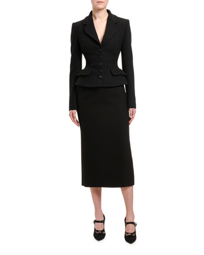 7a786ed04f49ae Wool Peplum Jacket and Matching Items Quick Look. Dolce & Gabbana