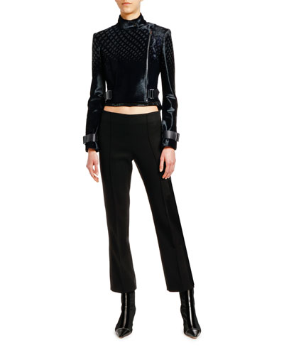Asymmetric Calf Hair Biker Jacket and Matching Items
