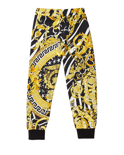 Boy's Barocco Print Sweatpants  Size 4-6  and Matching Items