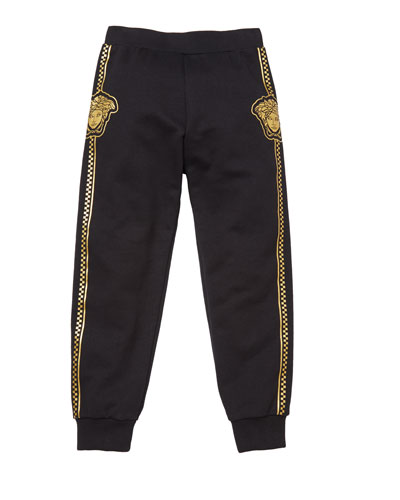 Boy's Sweatpants w/ Check Medusa Sides  Size 4-6  and Matching Items