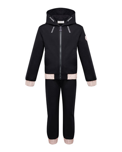Contrast-Trim Hoodie w/ Matching Sweatpants, Size 4-6 and Matching Items