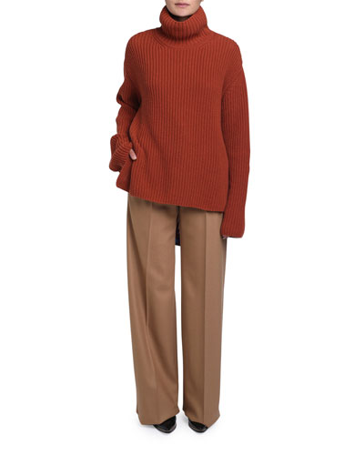 Cashmere Funnel-Neck Sweater and Matching Items
