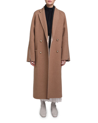 Double Breasted Camel Coat and Matching Items