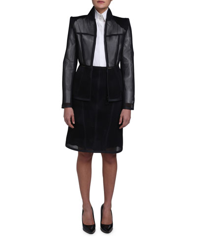 Mesh Zip-Front Jacket and Matching Items