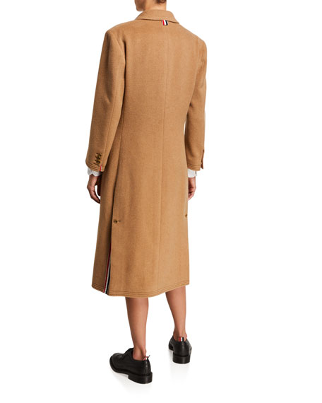 Chesterfield Oversized Double-Breasted Camel Hair Coat