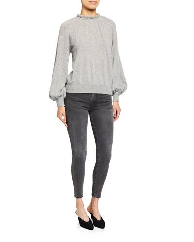 Femme Tissue Poet-Sleeve Sweatshirt and Matching Items