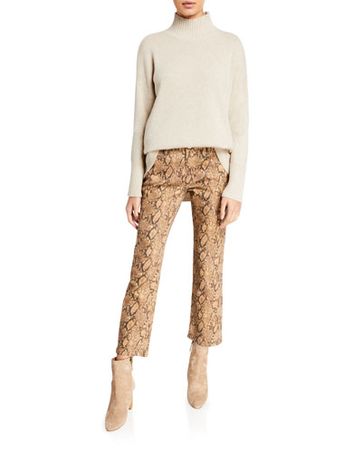 High-Low Cashmere Turtleneck Sweater and Matching Items