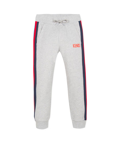 Drawstring Sweatpants w/ Striped Taping  Size 2-6  and Matching Items