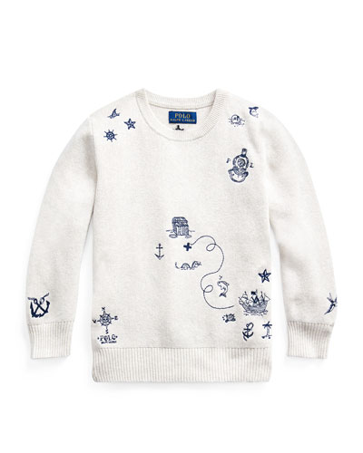 Boy's Nautical Embroidered Sweater  Size 2-4  and Matching Items