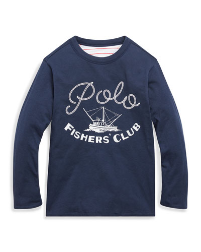 Boy's Reversible Stripe Logo Long-Sleeve Top  Size 2-4  and Matching Items