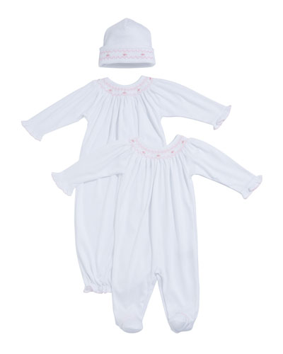 CLB Summer Smocked Bishop Sack  Size Newborn-S  and Matching Items