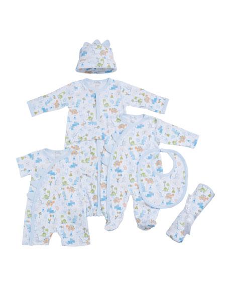 Dino Dash Pima Convertible Gown, Size Newborn-S