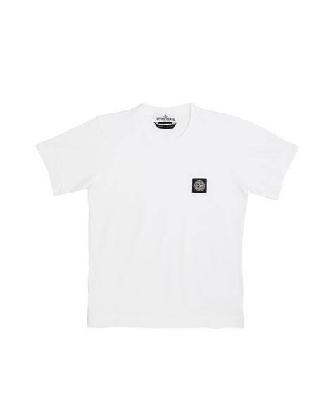 Boy's Logo Patch Short-Sleeve Tee, Size 2-4