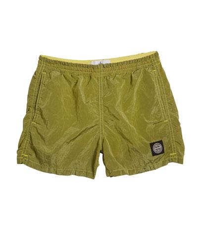 Boy's Elastic Waist Nylon Sport Shorts w/ Pockets  Size 2-4