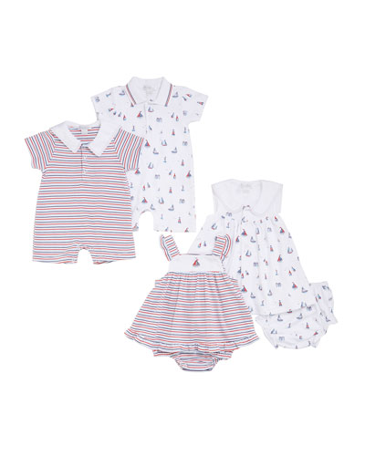 Seaside Surprise Printed Dress Set w/ Bloomers  Size 3-24 Months and Matching Items