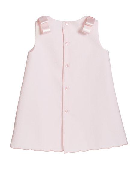 Girl's Pique Sleeveless Dress, Size 6-24 Months