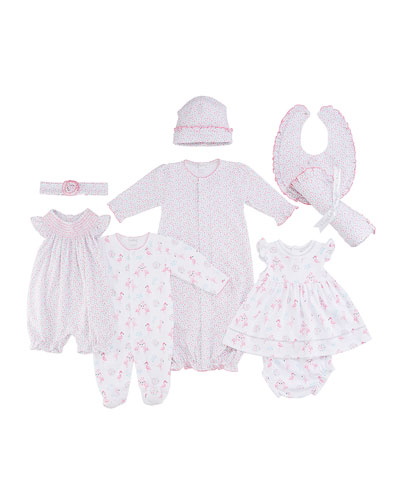 Flowering Flamingos Dress w/ Matching Bloomers  Size 6-24 Months  and Matching Items