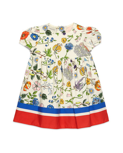 Flora Festival Printed Short-Sleeve Poplin Dress  Size 12-36 Months and Matching Items