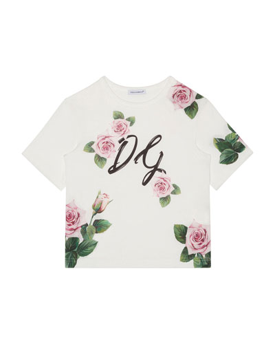 Girl's Scattered Rose DG Graphic Tee  Size 4-6  and Matching Items