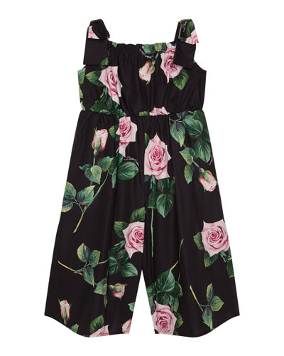 Girl's Popeline Rosa Rose Print Jumpsuit  Size 4-6  and Matching Items