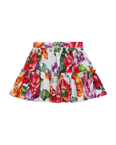Girl's Blooming Floral Print Tiered Skirt  Size 4-6  and Matching Items