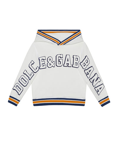 Boy's Logo Patch Hoodie  Size 4-6  and Matching Items