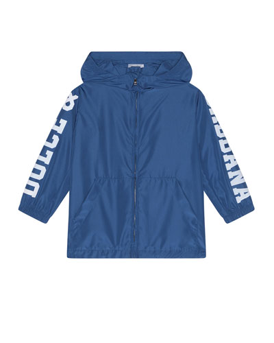 Boy's Summer Smile Logo Parka  Size 4-6  and Matching Items