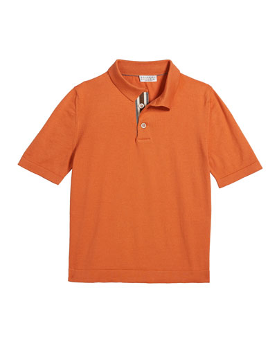 Boy's Super Pima Cotton Polo Shirt  Size 8-10 and Matching Items