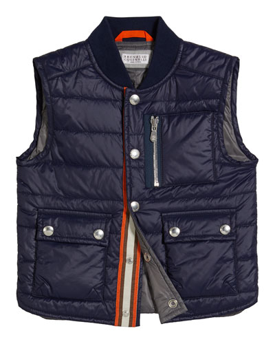 Boy's Quilted Nylon Vest  Size 8-10 and Matching Items